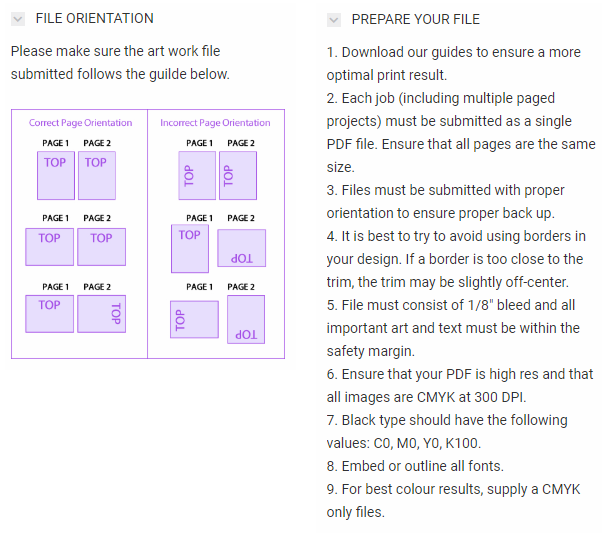 Printing - File Orientation & Preparation