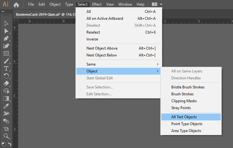 select-all-text-objects