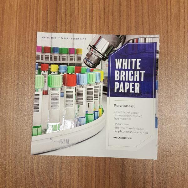 white bright paper permanent