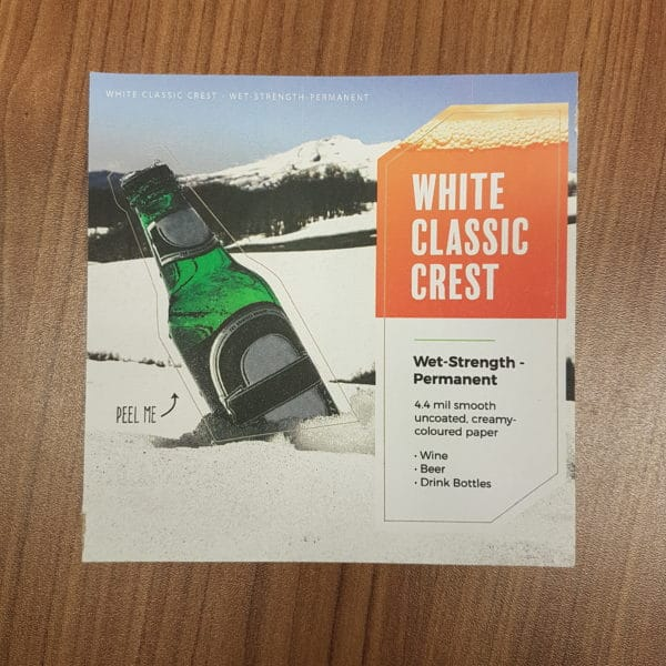 white classic crest wet-strength permanent