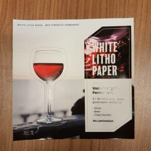 white litho paper wet strength permanent
