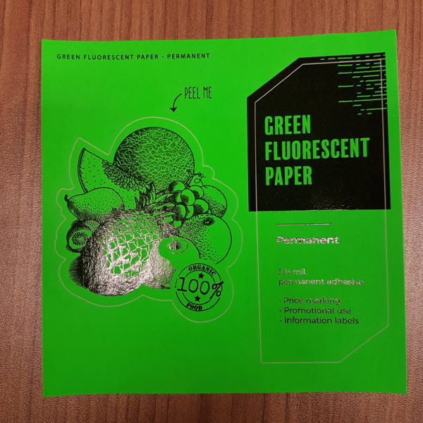 green fluorescent paper permanent circle oval