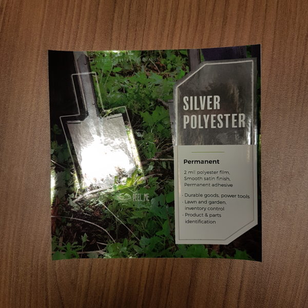 silver polyester permanent