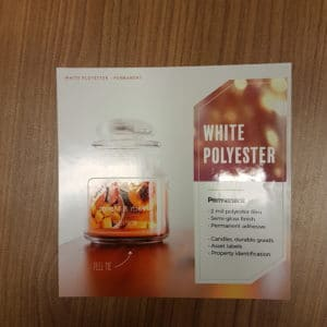white polyester permanent
