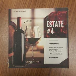 Estate #4 Permanent Labels - Oval circle